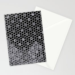 Tiles in black and white Stationery Cards