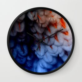 Blue Laced Red Wall Clock
