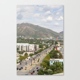 Salt Lake City Street Canvas Print