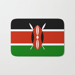 National flag of Kenya - Authentic version, to scale and color Bath Mat
