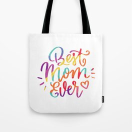 Womens Best Mom Ever LGBT Rainbow product, Mothers Day Gift Tote Bag
