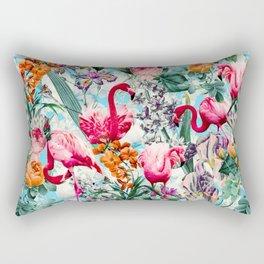 Floral and Flamingo VII pattern Rectangular Pillow