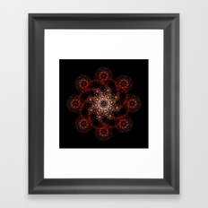 black sun rising Framed Art Print
