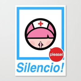 Silencio Please! Canvas Print