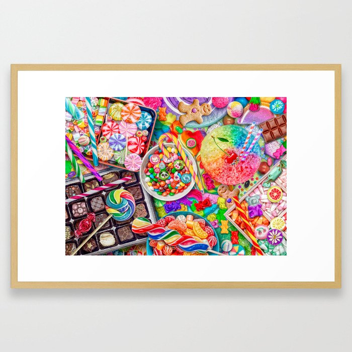 Candylicious Framed Art Print