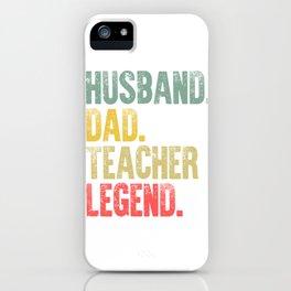 Funny Men Vintage T Shirt Husband Dad Teacher Legend Retro iPhone Case
