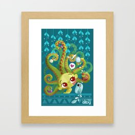 MEDUSA´S MORNING ROUTINE Framed Art Print