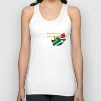 south africa Tank Tops featuring Republic of South Africa by Dandy Octopus