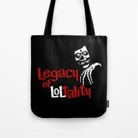 misfits Tote Bags featuring The Misfits after 1983 by Chris Piascik