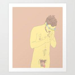 Smokey Hair Art Print