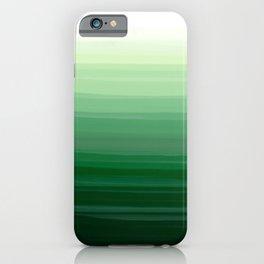 Green Emerald Gradient Color Blend iPhone Case