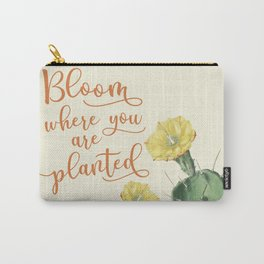Bloom Where you are Planted Cactus Carry-All Pouch