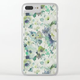 Painted Flowers Clear iPhone Case