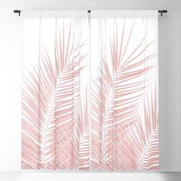 Blush Pink Palm Leaves Dream - Cali Summer Vibes #1 #tropical #decor #art #society6 Blackout Curtain