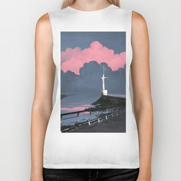 Pink clouds Biker Tank