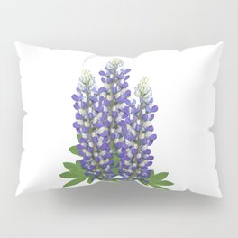 Blue and white lupine flowers Pillow Sham