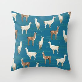 Peruvian Llamas Throw Pillow