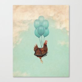 Chickens Can't Fly Canvas Print
