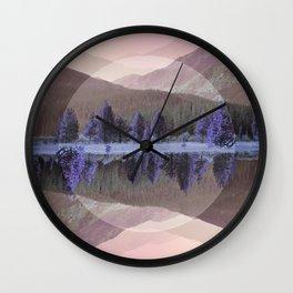 Mountain Mirror Wall Clock