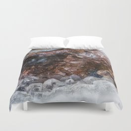Tiny geode crystal cave Duvet Cover