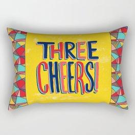 Three Cheers Rectangular Pillow