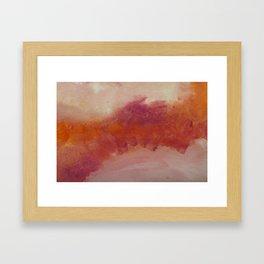 WaterColor Orange Red Print Framed Art Print