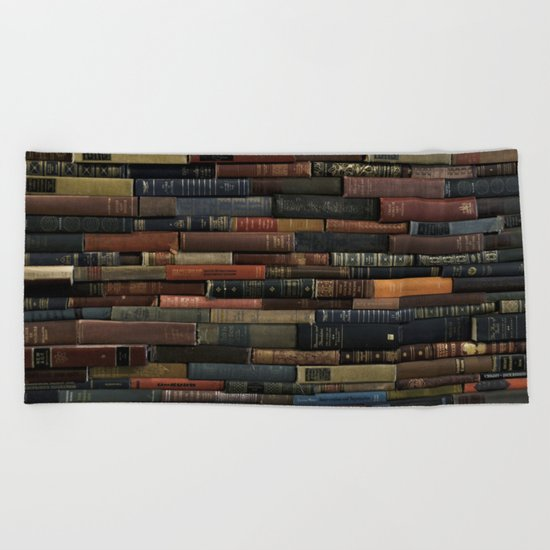 Books on Books Beach Towel