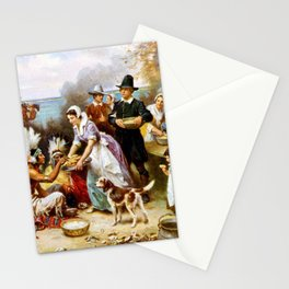 The First Thanksgiving 1621 By Jean Leon Gerome Ferris Stationery Cards