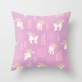 The Kids Are Alright - Pastel Pinks Throw Pillow