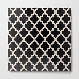 Moroccan Quatrefoil Pattern 724 Metal Print