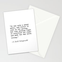F. Scott Fitzgerald quote 6 Stationery Cards
