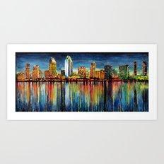 San Diego Panorama Art Print