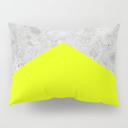 Concrete Arrow - Neon Yellow #521 Pillow Sham