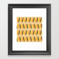 Leaves Falling on Beige Framed Art Print