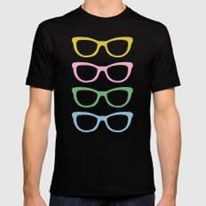 Glasses #4 Mens Fitted Tee Black MEDIUM