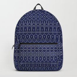 Blue Indigo Traditional Oriental Moroccan Design Backpack