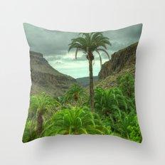Palmitos Palms Throw Pillow
