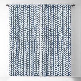 Knit Wave Navy Blackout Curtain