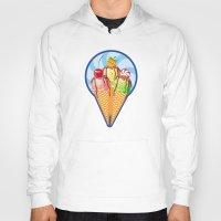 ice cream Hoodies featuring Ice cream by LaDa
