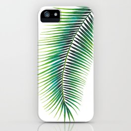 Tropical Palm Leaf #2 | Watercolor Painting iPhone Case