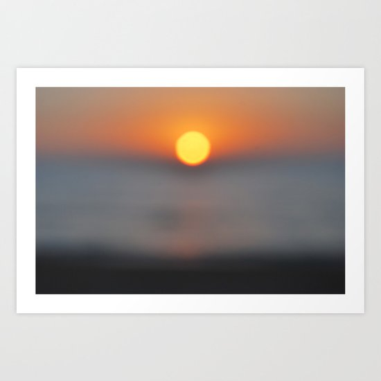 the sun, the sea and the sand Art Print