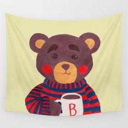 Winter Season is Coming (Bear Version) Wall Tapestry