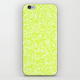 Tiny Spots - White and Fluorescent Yellow iPhone Skin