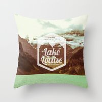 canada Throw Pillows featuring CANADA by Anna Trokan