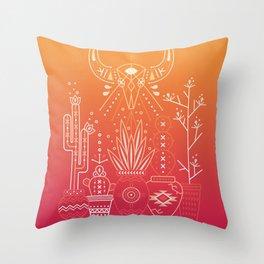 Santa Fe Garden – Orange Sunset Throw Pillow