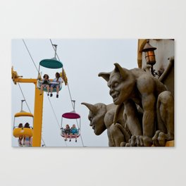 boardwalk gargoyles Canvas Print