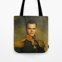 replaceface Tote Bags featuring Matt Damon - replaceface by replaceface