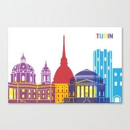 Turin skyline pop Canvas Print