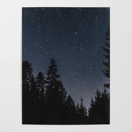 Star Night in the Woods | Nature and Landscape Photography Poster