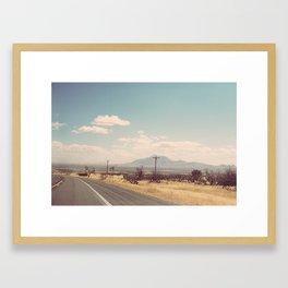 driving through arizona.  Framed Art Print